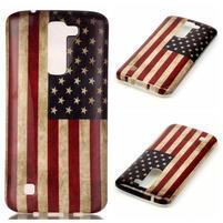 Emotive gélový obal pre mobil LG K8 - US vlajka