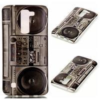 Emotive gélový obal pre mobil LG K8 - retro magneťák