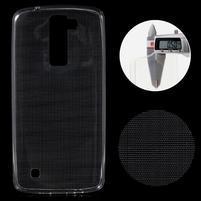 Ultratenký gélový obal pre mobil LG K8 - transparentný
