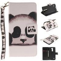Style PU kožené puzdro pre LG K8 - panda
