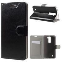 Horse PU kožené puzdro pre mobil LG K8 - čierne
