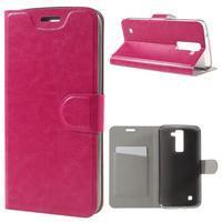 Horse PU kožené puzdro pre mobil LG K8 - rose