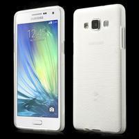 Broušený gélový obal Samsung Galaxy A5 - biely