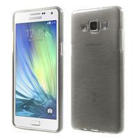 Broušený gélový obal Samsung Galaxy A5 - šedý