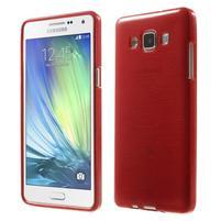 Broušený gélový obal Samsung Galaxy A5 - červený