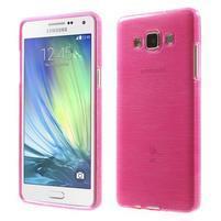 Broušený gélový obal Samsung Galaxy A5 - rose