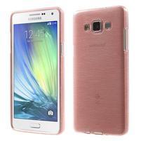 Broušený gélový obal Samsung Galaxy A5 - růžový
