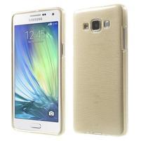 Broušený gélový obal Samsung Galaxy A5 - chamapgne
