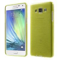 Broušený gélový obal Samsung Galaxy A5 - zelený