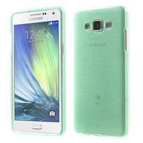 Broušený gélový obal Samsung Galaxy A5 - cyan