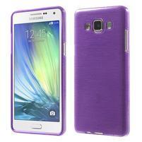 Broušený gélový obal Samsung Galaxy A5 - fialový