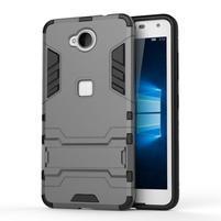 Defender odolný obal pre mobil Microsoft Lumia 650 - sivý
