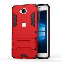 Defender odolný obal pre mobil Microsoft Lumia 650 - červený