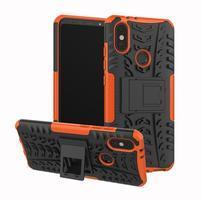 Outdoor hybridný odolný kryt na mobil Xiaomi Mi A2 - oranžový