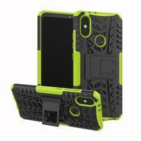 Outdoor hybridný odolný kryt na mobil Xiaomi Mi A2 - zelený