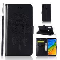 Dream PU kožené peňaženkové puzdro na mobil Xiaomi Mi A2 - čierne