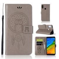 Dream PU kožené peňaženkové puzdro na mobil Xiaomi Mi A2 - sivé