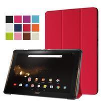 Trifold PU kožené puzdro na tablet Acer Iconia Tab 10 A3-A40 - červené