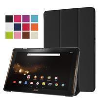 Trifold PU kožené puzdro na tablet Acer Iconia Tab 10 A3-A40 - čierne