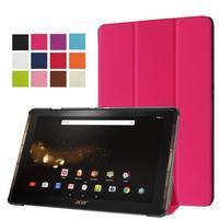 Trifold PU kožené puzdro na tablet Acer Iconia Tab 10 A3-A40 - rose