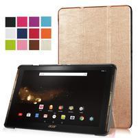 Trifold PU kožené puzdro na tablet Acer Iconia Tab 10 A3-A40 - zlaté