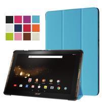 Trifold PU kožené puzdro na tablet Acer Iconia Tab 10 A3-A40 - modré