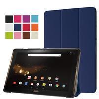 Trifold PU kožené puzdro na tablet Acer Iconia Tab 10 A3-A40 - tmavomodré