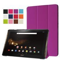Trifold PU kožené puzdro na tablet Acer Iconia Tab 10 A3-A40 - fialové