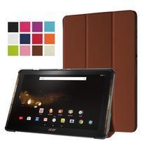 Trifold PU kožené puzdro na tablet Acer Iconia Tab 10 A3-A40 - hnedé