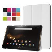 Trifold PU kožené puzdro na tablet Acer Iconia Tab 10 A3-A40 - biele