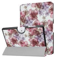 Motive PU kožené puzdro na Acer Iconia One 10 B3-A40 - kvety
