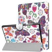 Motive PU kožené puzdro na Acer Iconia One 10 B3-A40 - motýle