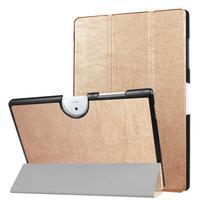 Zapínacie PU kožené puzdro na Acer Iconia One 10 B3-A40 - zlaté