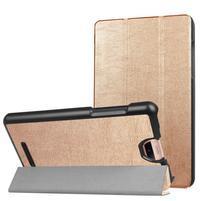 Trifold polohovacie puzdro na tablet Acer Iconia Talk S - zlaté