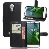 Peňaženkové puzdro pre Acer Liquid Zest Plus - čierné