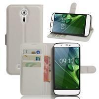 Peňaženkové puzdro pre Acer Liquid Zest Plus - biele