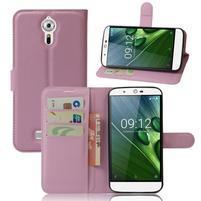 Peňaženkové puzdro pre Acer Liquid Zest Plus - ružové