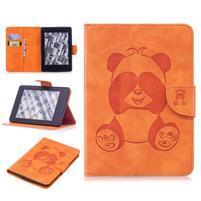 Printy PU kožené puzdro na Amazon Kindle Paperwhite 1, 2 a 3 - oranžové