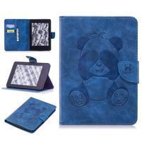 Printy PU kožené puzdro na Amazon Kindle Paperwhite 1, 2 a 3 - modré