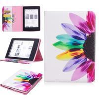 Color PU kožené puzdro na Amazon Kindle Paperwhite 1, 2 a 3 - farebné lístky