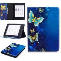 Color PU kožené puzdro na Amazon Kindle Paperwhite 1, 2 a 3 - elegantné motýle