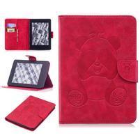 Printy PU kožené puzdro na Amazon Kindle Paperwhite 1, 2 a 3 - červené