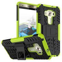 Outdoor odolný obal na Asus Zenfone 3 Deluxe ZS570KL - zelený