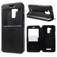 Noble Pu kožené puzdro s okýnkem na Asus Zenfone 3 Max ZC520TL - čierne