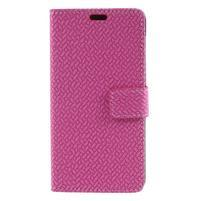 Texture PU kožené zapínacie puzdro na Asus Zenfone 4 Max ZC520KL - rose