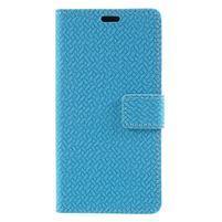 Texture PU kožené zapínacie puzdro na Asus Zenfone 4 Max ZC520KL - modré