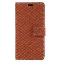 Texture PU kožené zapínacie puzdro na Asus Zenfone 4 Max ZC520KL - hnedé