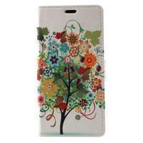 Patty peňaženkové puzdro na Asus Zenfone 4 Max ZC520KL - kvetinový strom