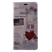 Patty peňaženkové puzdro na Asus Zenfone 4 Max ZC520KL - mačička