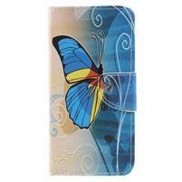 Patty peňaženkové puzdro na Asus Zenfone 4 Max ZC554KL - modrý motýľ